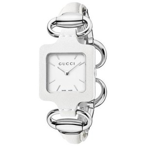 Gucci 1921 collection, White Leather Watch for Women