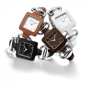 Gucci 1921 Leather and Stainless Steel Bangle Women's Watch Collection