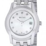 G-Gucci Women's Mother of Pearl and Stainless Steel Watch YA055501
