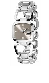 Gucci G silver watch