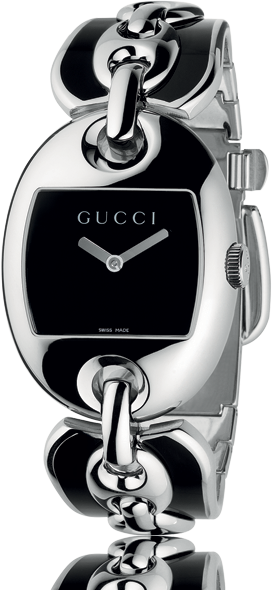 Gucci Marina Women's Bangle Watch Black and Silver