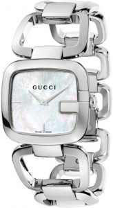 G-Gucci Women's Mother of Pearl Small Stainless Steel Watch YA125508