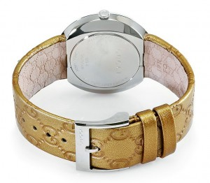 Back View - Gucci U-play Ladies Gold Leather Interchangeable Watch ya129408