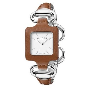 Gucci 1921 Women's Camel Leather Bangle Watch YA130401