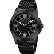 Close up of the Gucci YA126202 Black Stainless Steel Classic Men's Watch