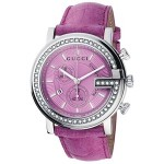 Gucci G-Chrono Pink Crocodile Strap Watch YA101313