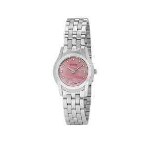 Gucci G-Class Women's Pink Mother of Pearl Dial 11 Diamonds Watch YA055522