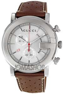 Gucci 101G Chronograph Steel Brown Mens Watch YA101312