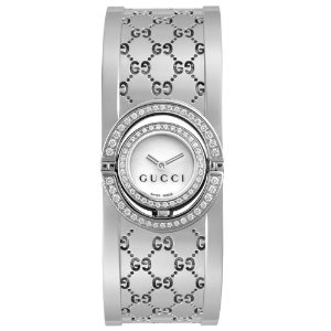 Gucci Twirl 112 Series Diamond Bangle Women's Watch YA112512