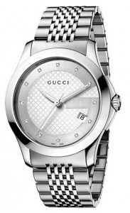 The face of Gucci Men's YA126404 Gucci Timeless Watch