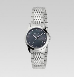 A G-Timeess watch with a black dial