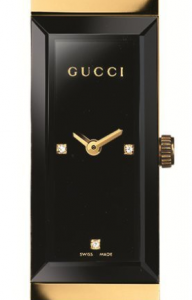 Close-up of the Gucci G-Frame YA127506 dial