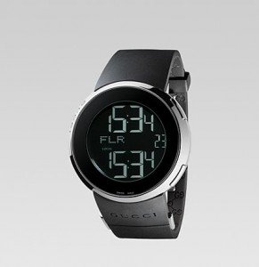 Image of the face and front of a Gucci YA114202 i-Gucci Men's Watch